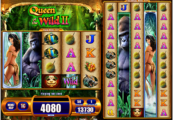 Jungle Themed Queen Of The Wild Ii Slot Online From Wms
